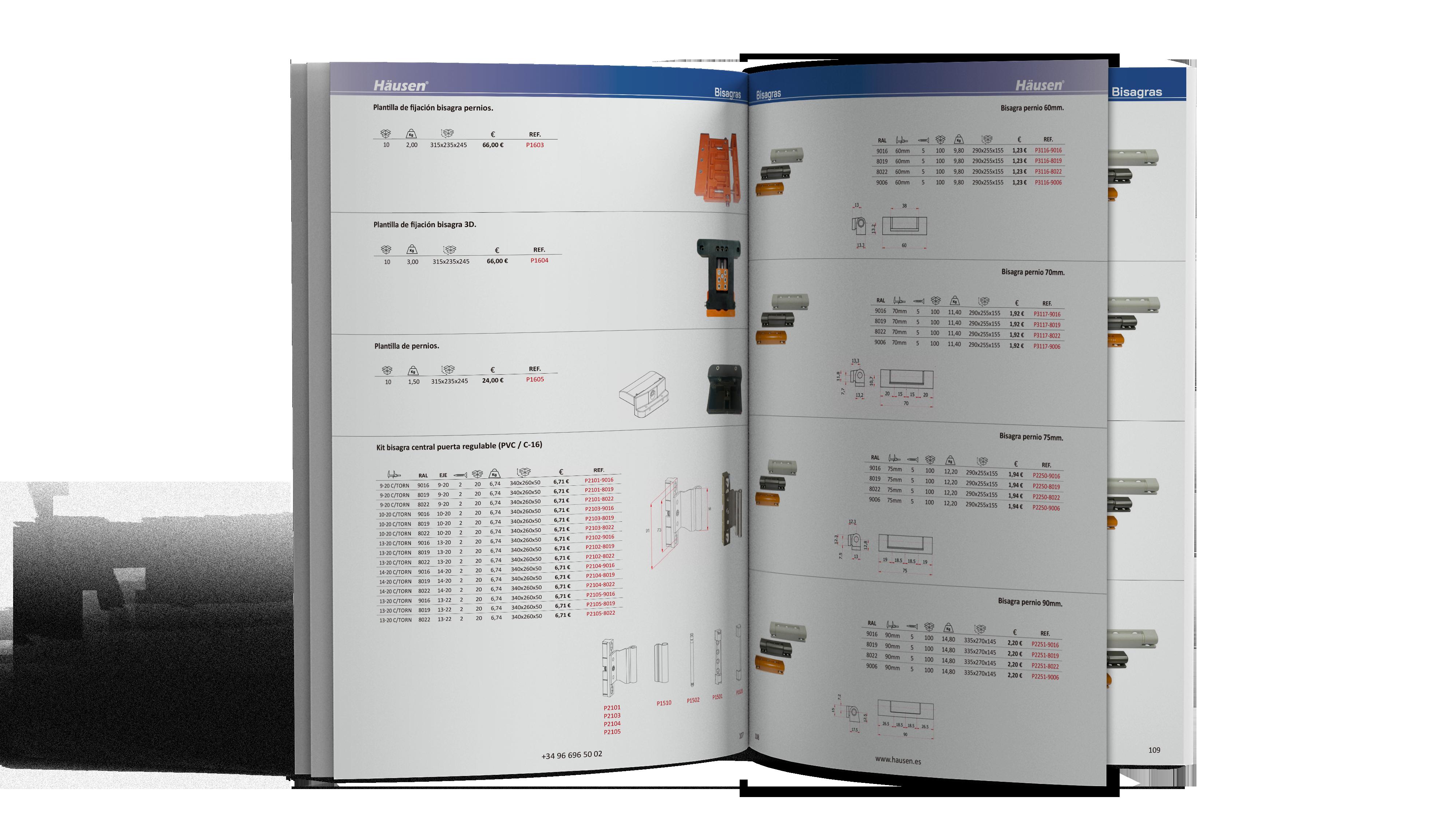 Catálogo Bisagras para Aluminio y PVC