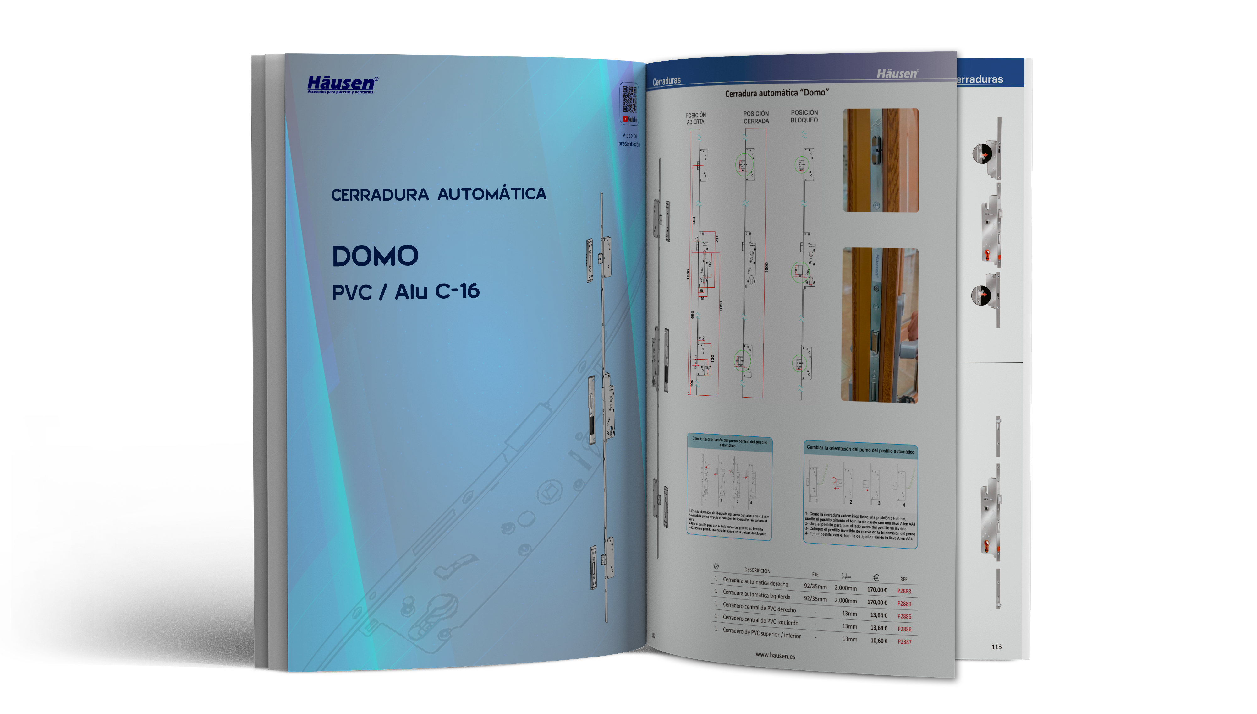 Catálogo de cerraduras para aluminio y PVC