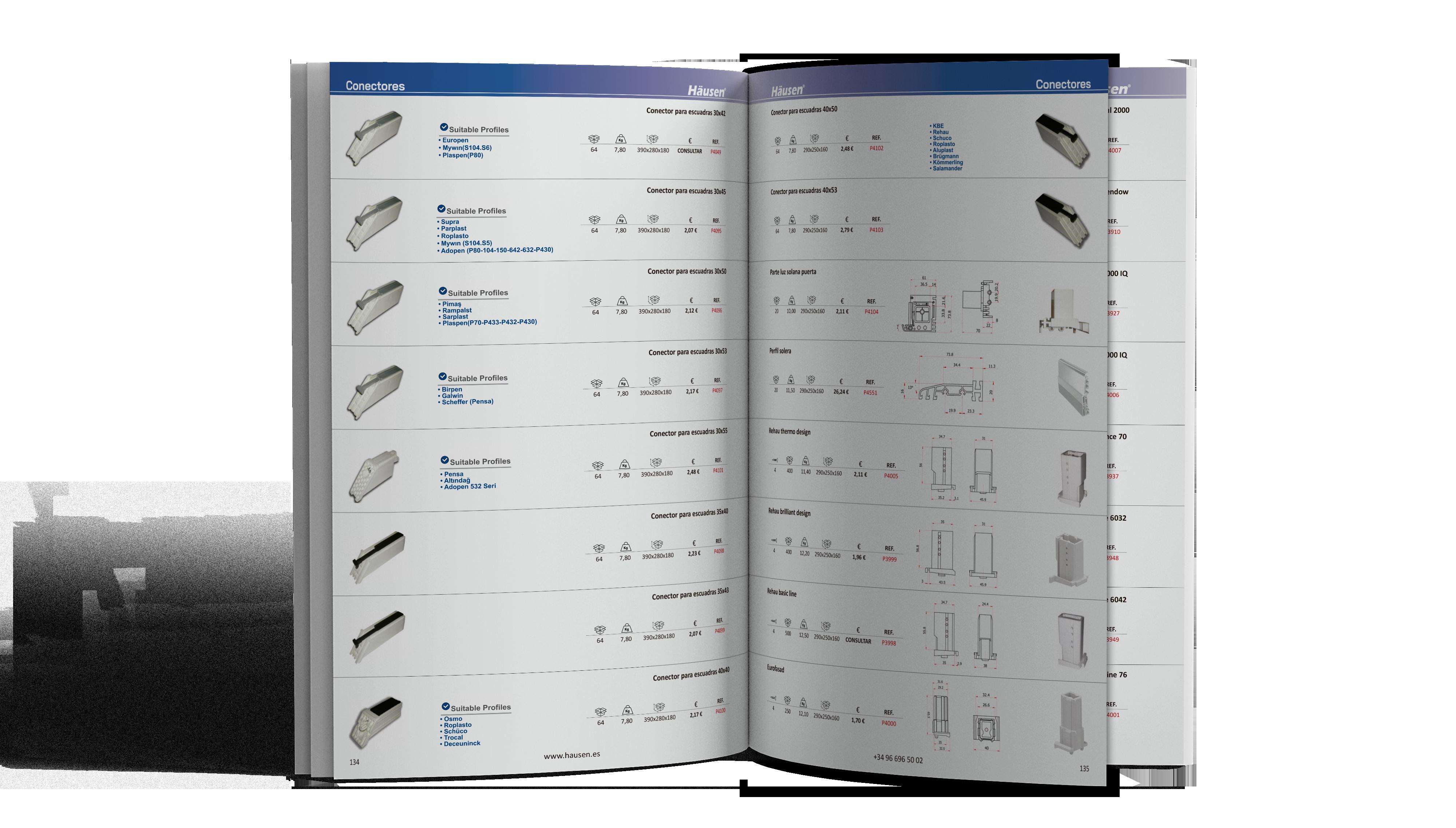 Catálogo Conectores y cuñas para Aluminio y PVC