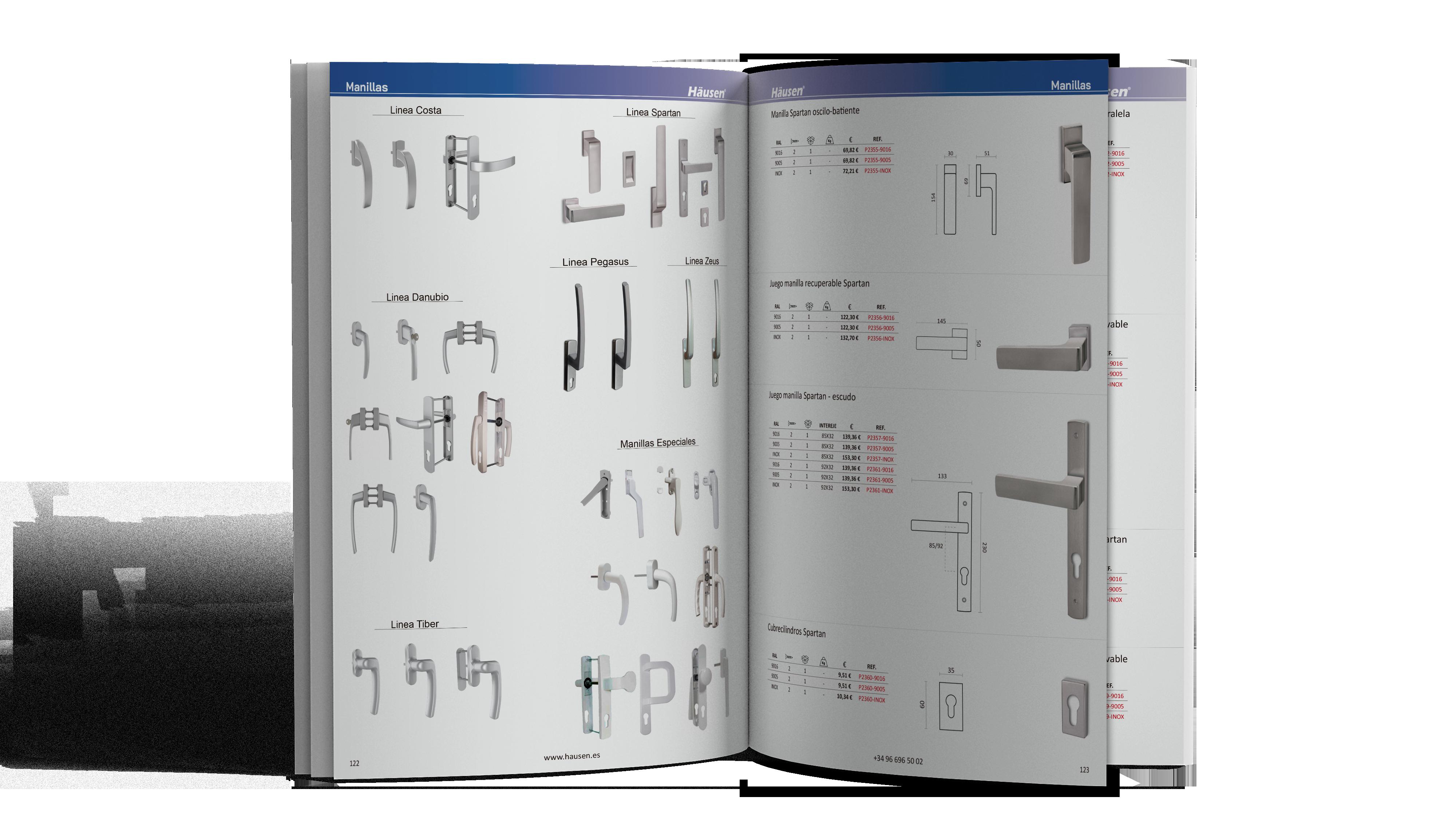 Catálogo Manillas para Aluminio y PVC