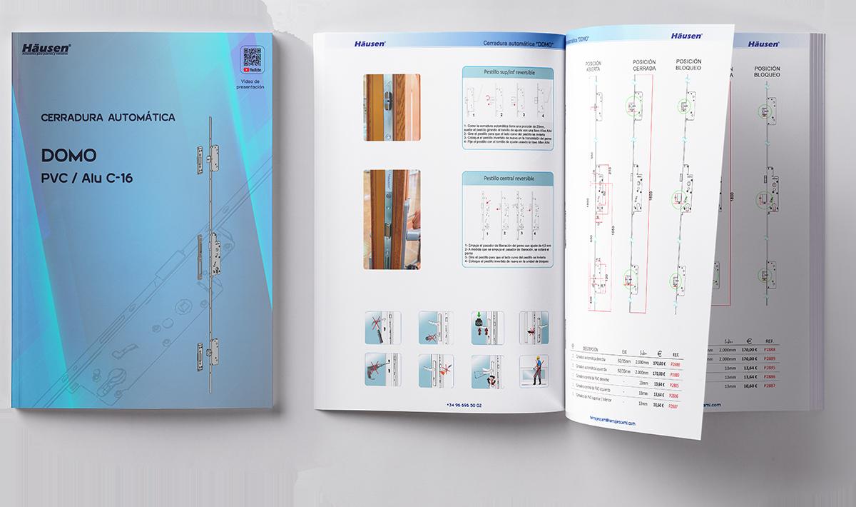 Descarga Catálogo cerradura automática DOMO para ventanas de Aluminio y PVC