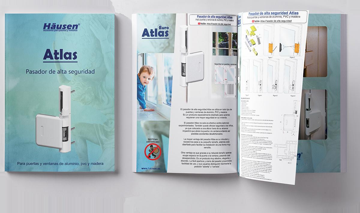 Descarga catalogo Pasador de alta seguridad anti robo ATLAS para puertas y ventanas de Aluminio, Madera y PVC