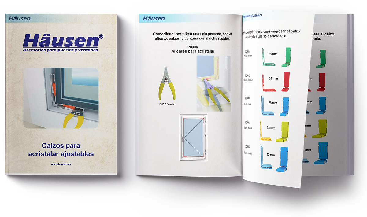 Descarga catalogo accesorios para acristalara ajustables para puertas y ventanas de Aluminio y PVC