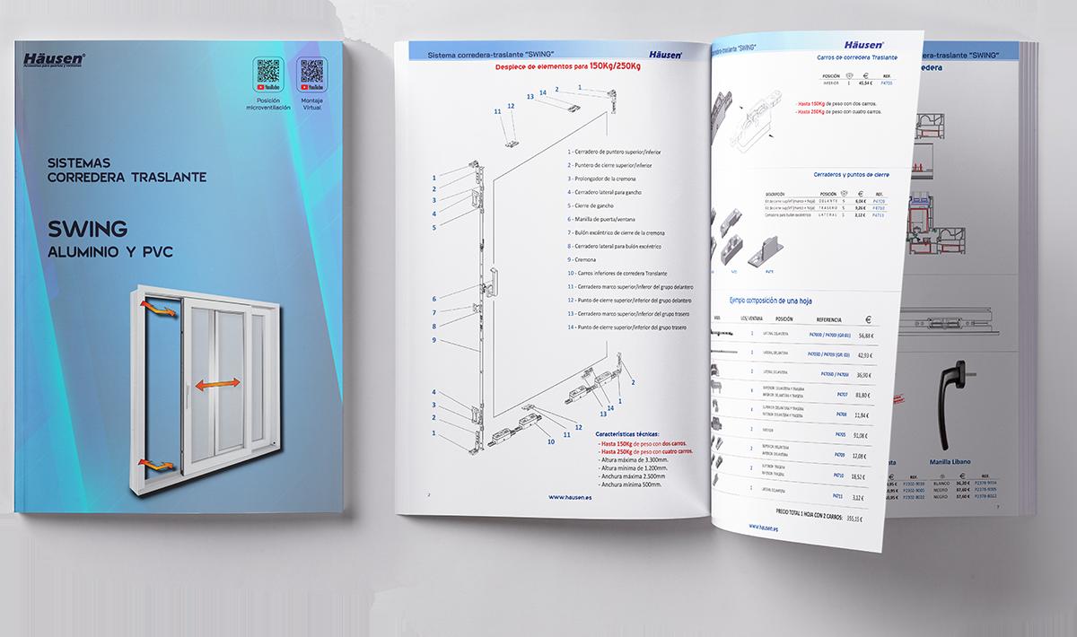 Descarga Catálogo corredera translante SWING para puertas y ventanas de Aluminio y PVC