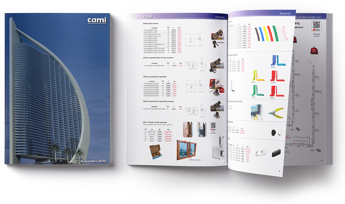 Descarga catálogo distribuidor para puertas y ventanas de Aluminio y PVC