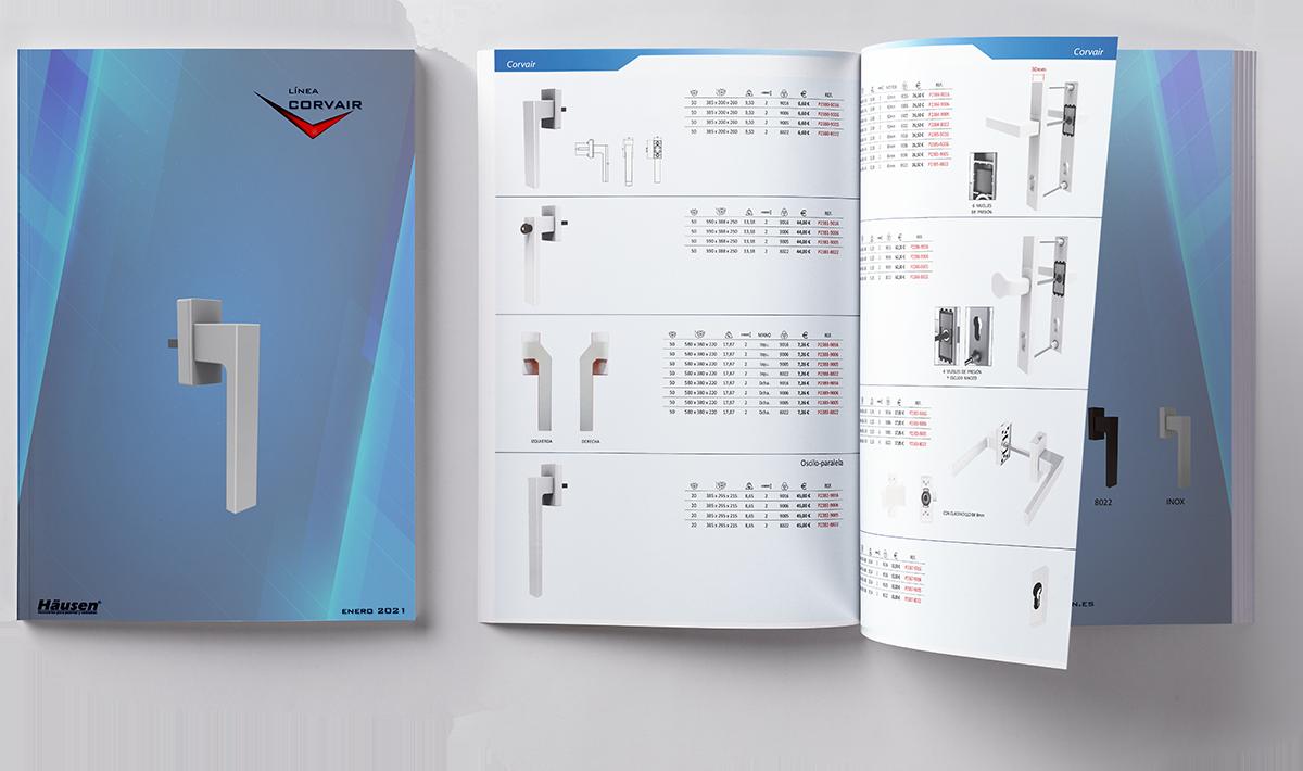 Descarga Catálogo línea CORVAIR puertas y ventanas de Aluminio y PVC