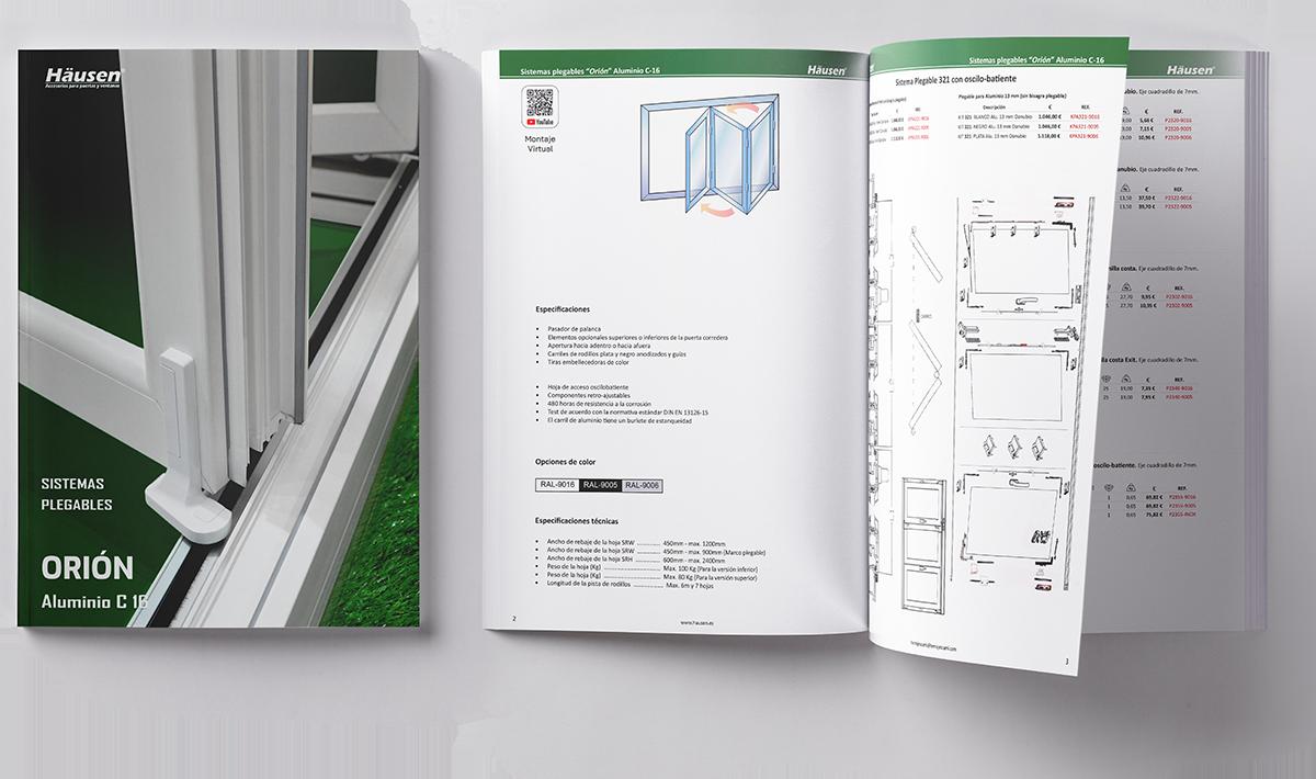 Descarga catalogo plegable C-16 para Aluminio y PVC