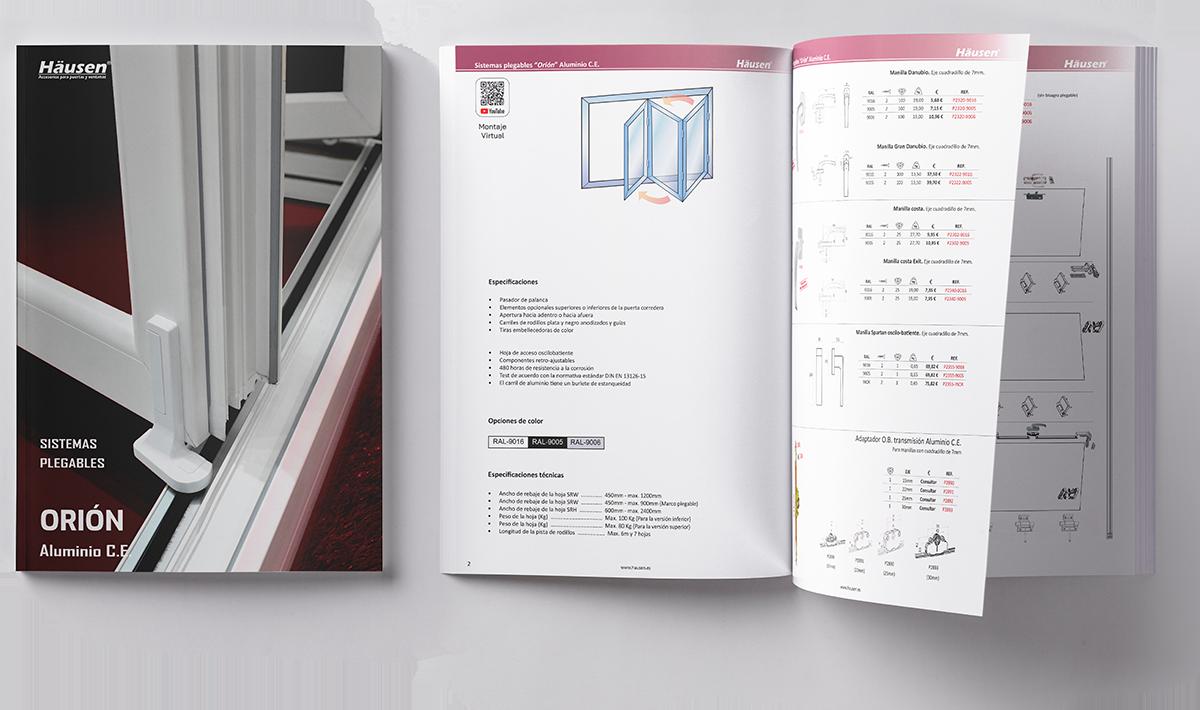 Descarga Catálogo Sistemas plegables para puertas y ventanas de Aluminio y PVC