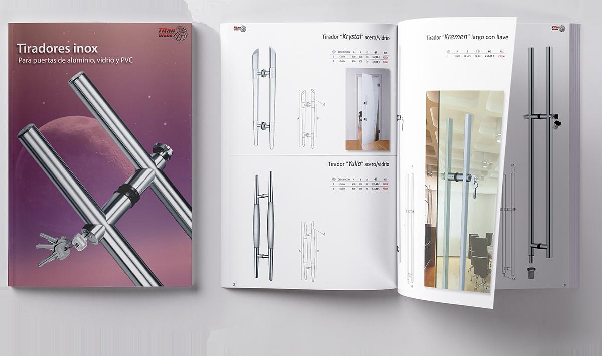Catalogo tiradores INOX para puertas de vidrio