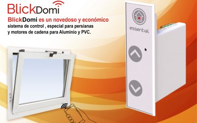 Novedoso y económico sistema de control, especial para persianas y motores de cadena para Aluminio y PVC «BlickDomi»