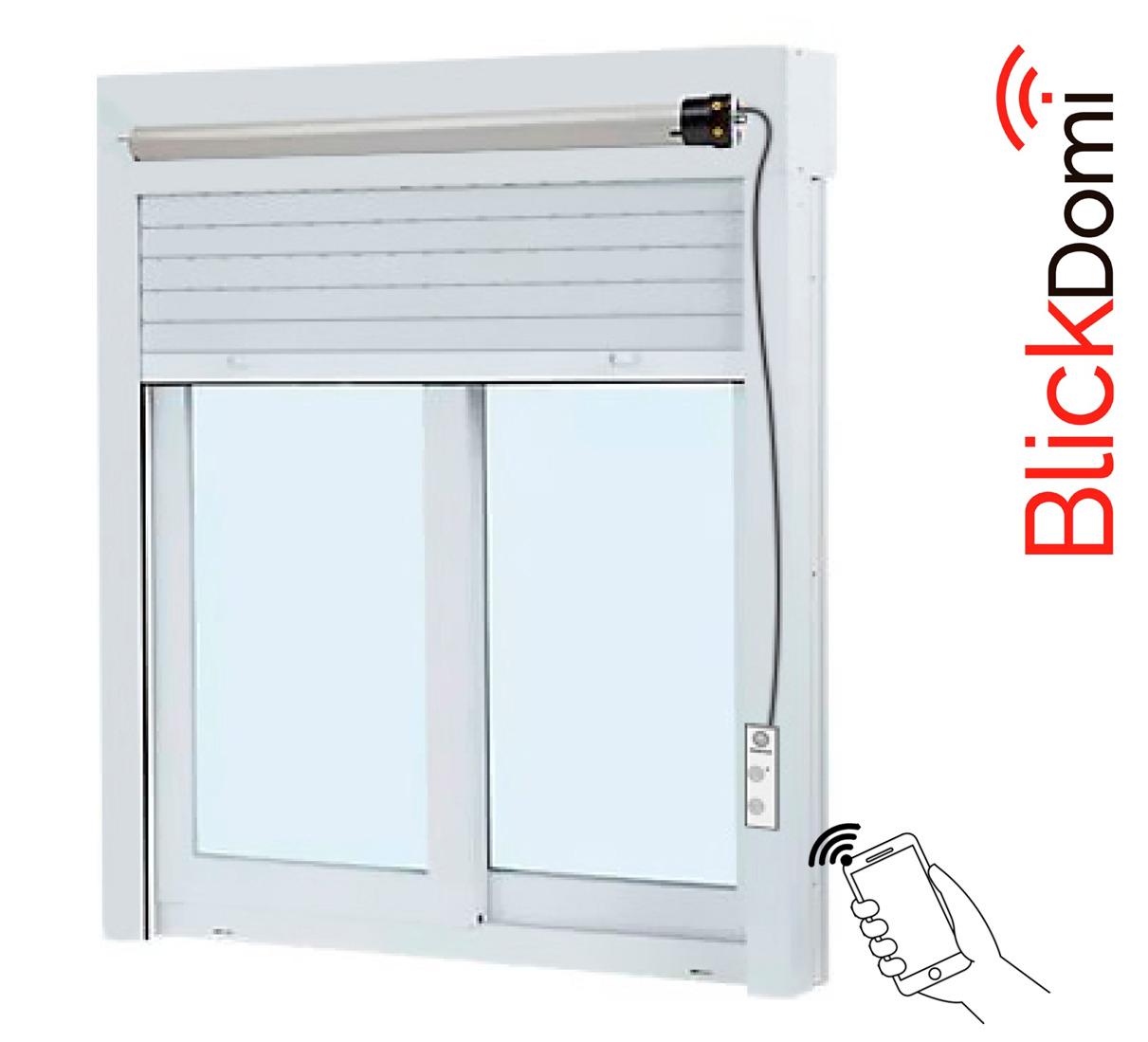 BlickDomi es un novedoso y económico sistema de control , especial para persianas y motores de cadena para Aluminio y PVC.