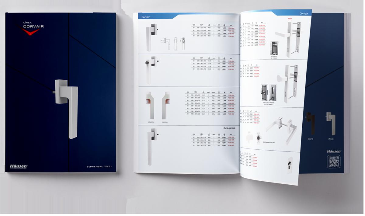 Descarga catalogo linea CORVAIR puertas y ventanas de Aluminio y PVC